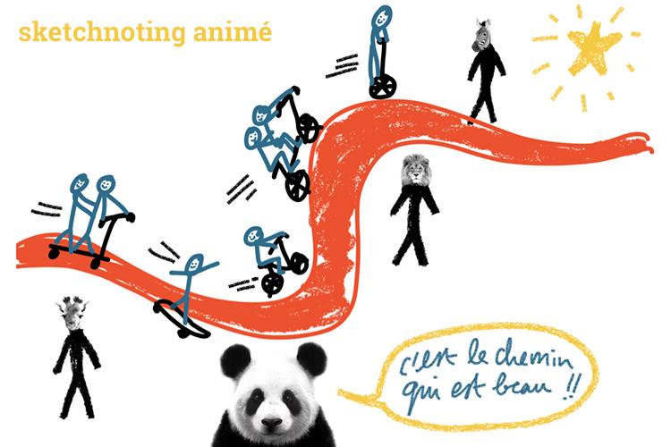 Sketchnoting animé, genèse d'une improvisation inspirée