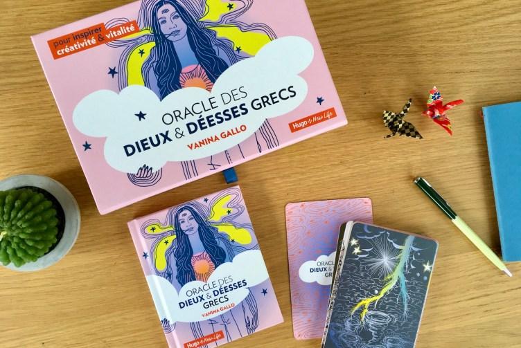 Oracle des dieux & déesses grecs, le coffret, le livret et les cartes