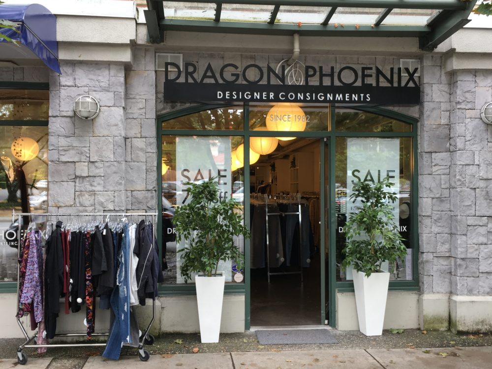 Outside store of Dragon and Phoenix Designer Consignment
