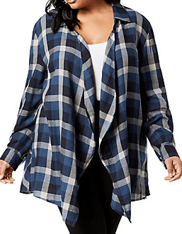 Autumn Fashions plaid cardigan