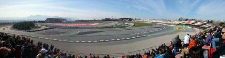 Stadium section before the chicane, a few people now in...