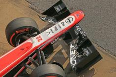 Good view of Marussia front wing...