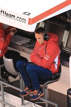 It's getting cold thinks Max as he splits day's driving with Bianchi