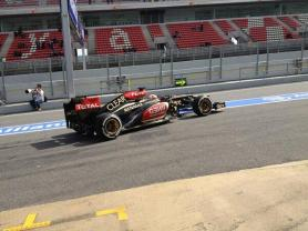 ...Kimi out straight after lunch to make up for lost time