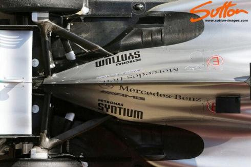 Compare the rear of the mercedes 'coke bottle' ....