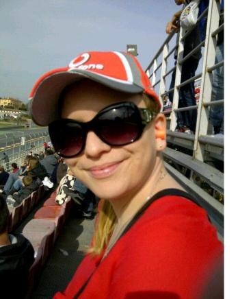 She looks happy. Enjoying the sunshine.....