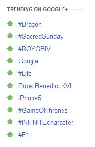 #F1 trending on Google+ - I guess that's good