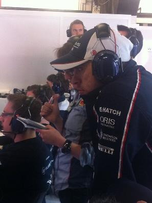 He's done and can only watch Bottas - its getting cold again very quickly