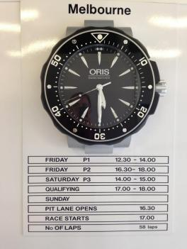 ...but the clock is running and the schedule clear...