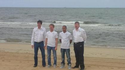 ..Looks like Mercedes went to a different beach - 'Lewis bad'