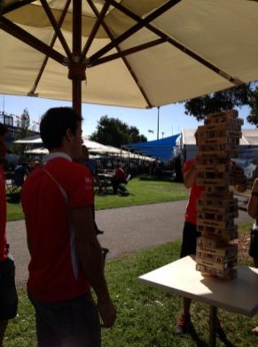 A game of Jenga may be starting...