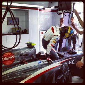 Esteban tries it an bangs his head....