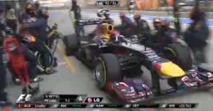 Vettel Pit Stop Shanghai