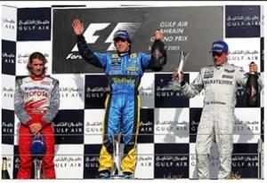 Bahrain 2005 podium