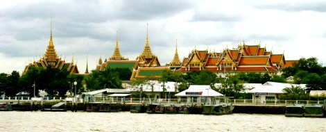 Bangkok Grand Palace from River