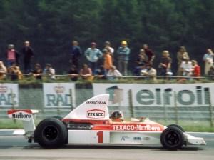 Emerson Fittipaldi McLaren-Ford Silverstone 1975