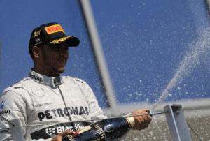 Lewis Hamilton Hungarian Podium © F1 Around The World
