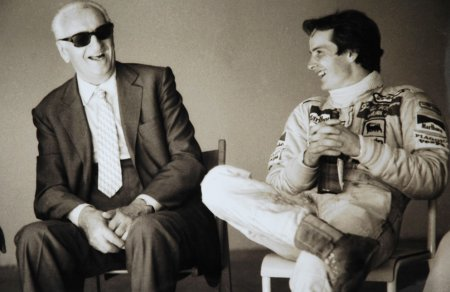 Gilles Villeneuve and Enzo Ferrari
