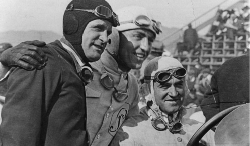 L to R: John Aitken, Eddie Rickenbacker & Dario Resta