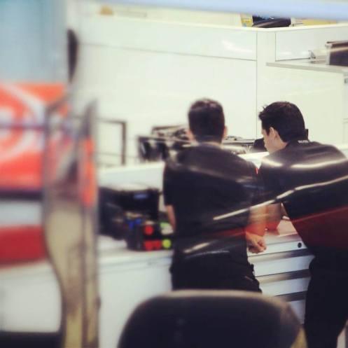 McLaren at work © Vodafone McLaren Mercedes