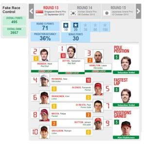 Singapore 2013 - Fake Race Control