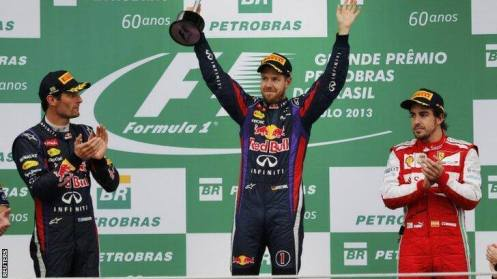 2013 Brazilian Grand Prix Podium