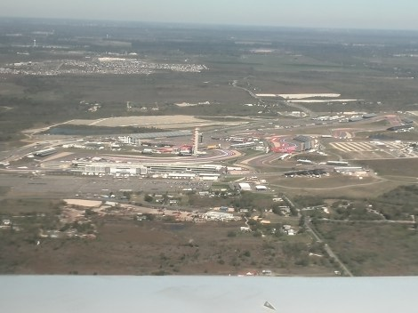 Circuit of the Americas view from the plane