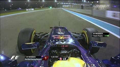 Mark Webber Pole AbuDhabi