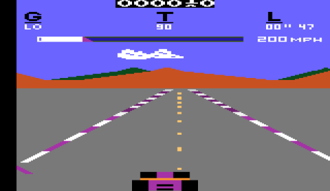 Early racing games were somewhat 'simplistic'