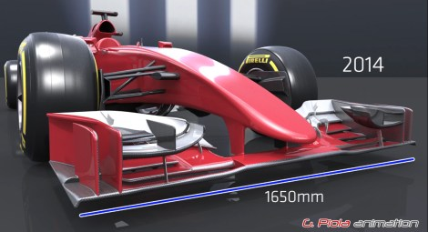 Figure 5 - 2014 Front Wing configuration