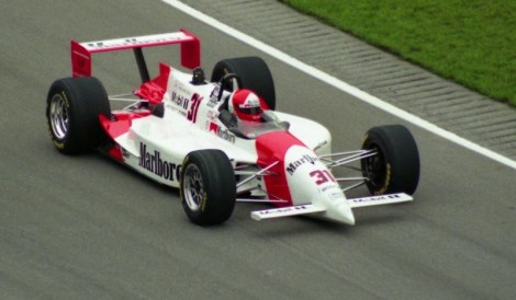 The one-off Penske PC-23 with the Mercedes-Ilmor 500I engine