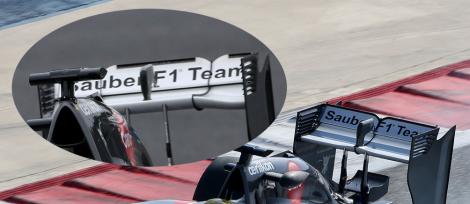 Sauber C33 Rear wing comparison