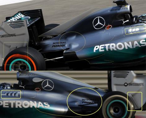 Mercedes W05 Cover Engine comparison