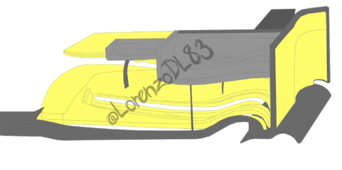 Sauber C33 new Front wing, new parts are highlighted in yellow