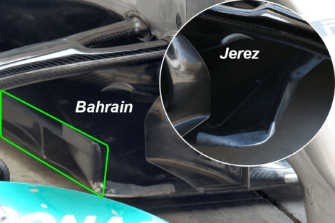 Pciture 1 - Mercedes W05 T-Tray comparison