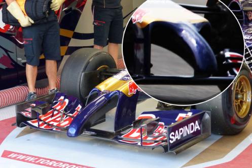 Picture 14 - Toro Rosso STR9 nosecone comparison