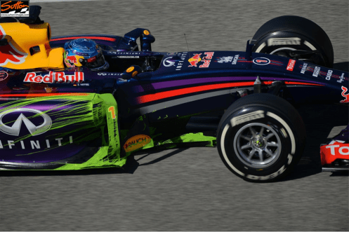 Picture 20 - Red Bull RB10 side pod downwash highlighted by  flo-viz