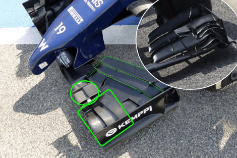 Picture 7 - Williams FW36 front wing comparison