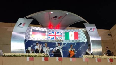 2014 Bahrain Grand Prix - Podium
