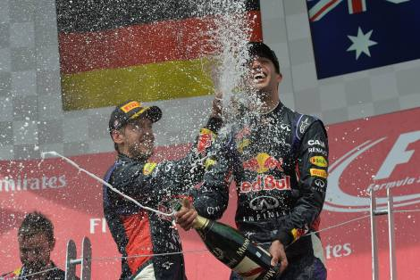 2014 Canadian Grand Prix - Ricciardo and Vettel