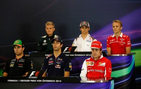 Thursday Drivers Press Conference AustrianGP 2014