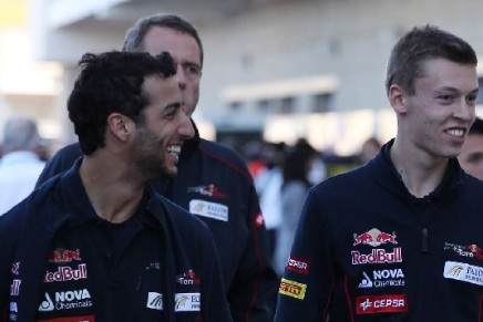 Ricciardo and Kvyat together in Austin, 2013