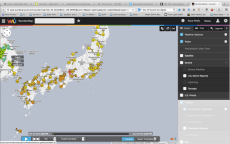 Japan not overlaid by the storm