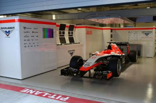 The Frenchman's car lay dormant on his side of the garage