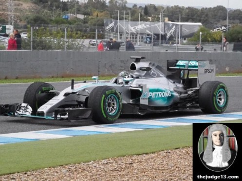 Rosberg glued to the track