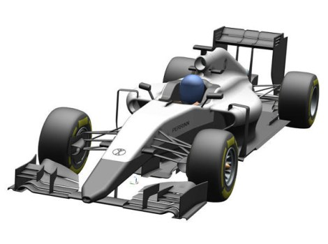 The new Manor car? A CGI of Perrin's Opensource F1 challenger