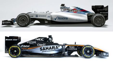 Force India and Williams