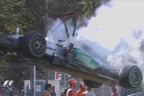 Rosberg retires monza 2015