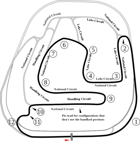 The current 2.1 mile road course