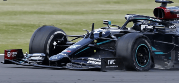 Mercedes comment on trick steering causing BritishGP tyre explosions